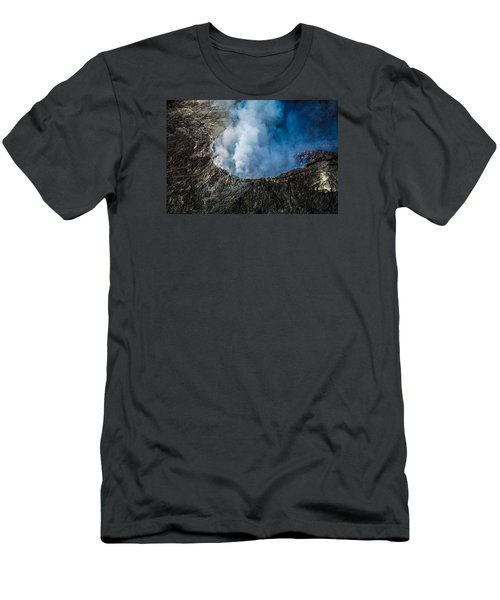 Men's T-Shirt (Athletic Fit) featuring the photograph Another View Of The Kalauea Volcano by Miles Whittingham