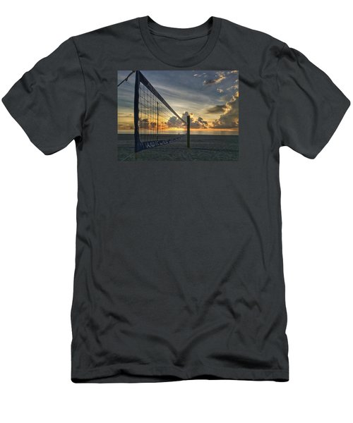 Volleyball Sunrise Men's T-Shirt (Slim Fit)