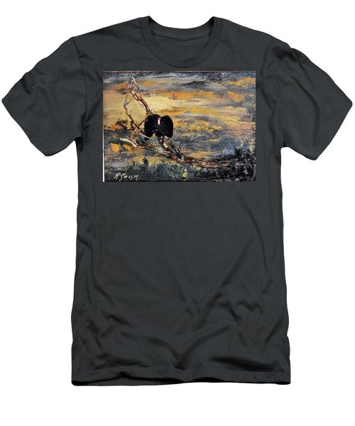 Vulture With Oncoming Storm Men's T-Shirt (Athletic Fit)