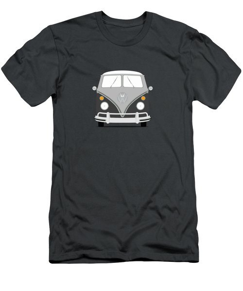 Vw Bus Grey Men's T-Shirt (Slim Fit)