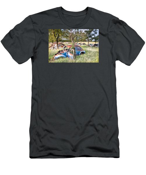 Men's T-Shirt (Slim Fit) featuring the photograph Vw Graveyard by Lawrence Burry