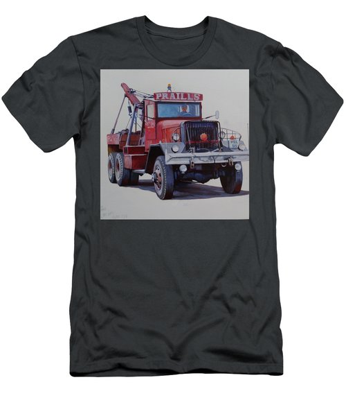 Men's T-Shirt (Slim Fit) featuring the painting Ward La France Wrecker by Mike Jeffries