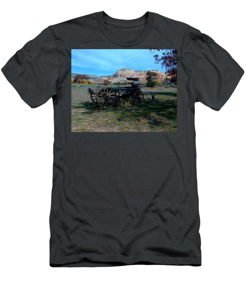 Men's T-Shirt (Athletic Fit) featuring the photograph Wagon And Kitchen Mesa by Joseph R Luciano