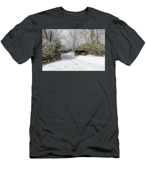 Wagon Wheels And Firewood Men's T-Shirt (Athletic Fit)