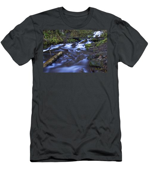 Wahkeena Creek Bridge # 5 Signed Men's T-Shirt (Athletic Fit)