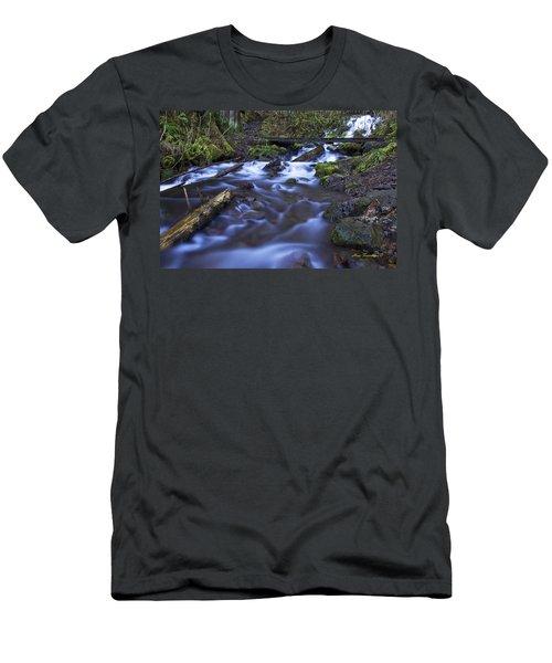 Wahkeena Creek Bridge # 5 Signed Men's T-Shirt (Athletic Fit)