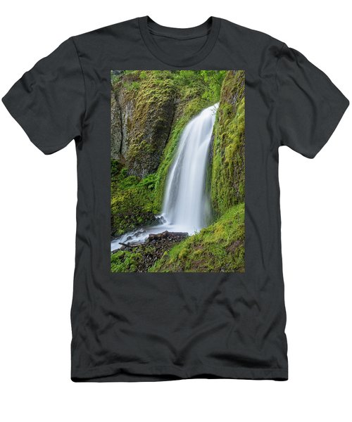 Men's T-Shirt (Slim Fit) featuring the photograph Wahkeena Falls by Greg Nyquist