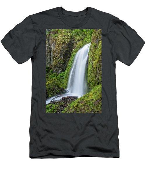 Wahkeena Falls Men's T-Shirt (Slim Fit) by Greg Nyquist