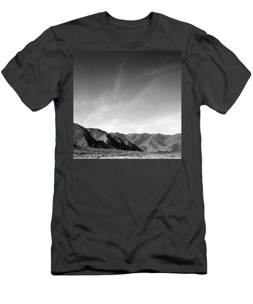 Men's T-Shirt (Slim Fit) featuring the photograph Wainui Hills Squared In Black And White by Joseph Westrupp