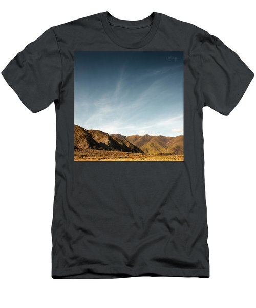 Men's T-Shirt (Slim Fit) featuring the photograph Wainui Hills Squared by Joseph Westrupp