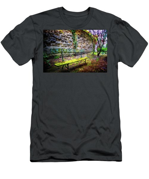 Men's T-Shirt (Slim Fit) featuring the photograph Waiting by Debra and Dave Vanderlaan