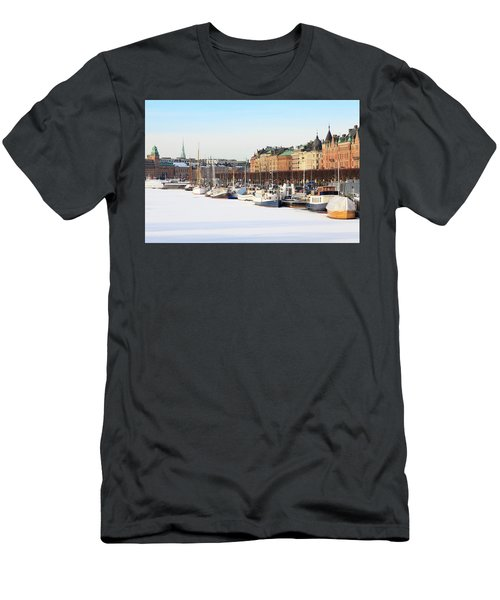 Waiting Out Winter Men's T-Shirt (Slim Fit) by David Chandler