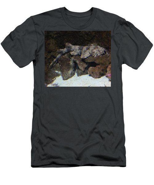 Men's T-Shirt (Slim Fit) featuring the photograph Waiting To Eat You - Spotted Wobbegong Shark by Richard W Linford