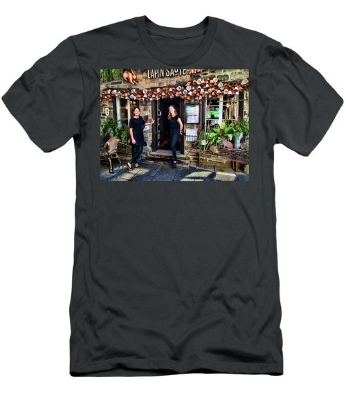 Waitresses At Outdoor French Terroir In Old Quebec City Men's T-Shirt (Athletic Fit)