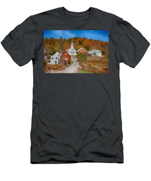 Waits River Church In Autumn Men's T-Shirt (Athletic Fit)