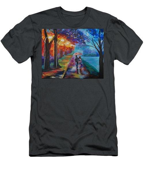 Walk By The Lake Series 1 Men's T-Shirt (Slim Fit) by Leslie Allen