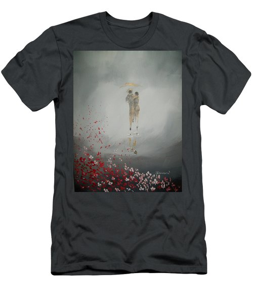 Men's T-Shirt (Slim Fit) featuring the painting Walk In The Storm by Raymond Doward