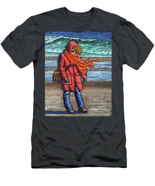 Walk On Beach Men's T-Shirt (Athletic Fit)