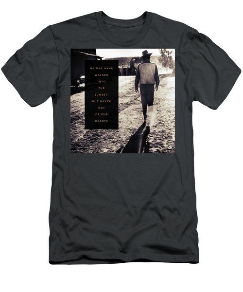 Walked Into The Sunset But Not Out Of Our Heart.  Men's T-Shirt (Slim Fit) by Michele Carter