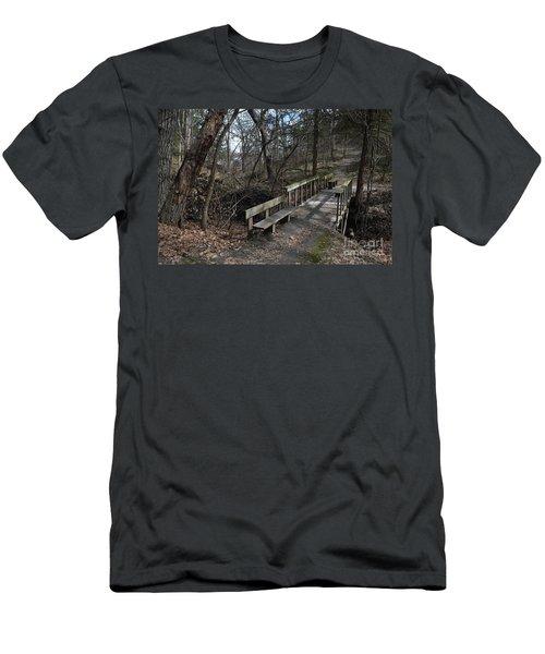 Walking Bridge Men's T-Shirt (Slim Fit) by Renie Rutten