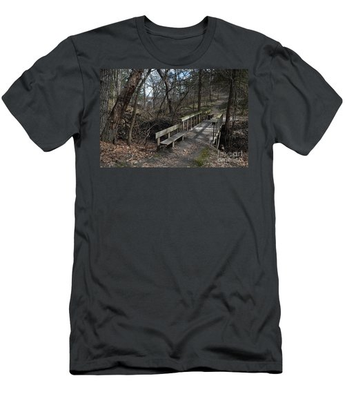 Walking Bridge Men's T-Shirt (Athletic Fit)