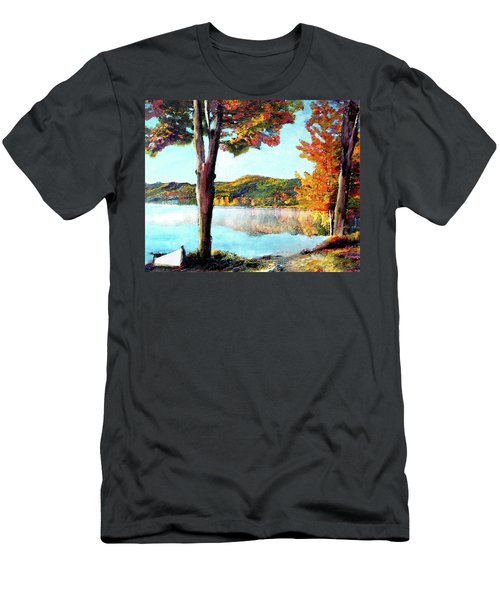 Walking Down Lake Champlain Men's T-Shirt (Athletic Fit)