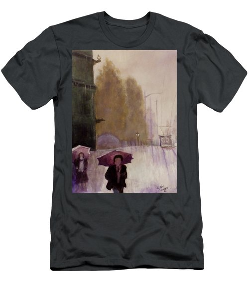 Walking In The Rain Men's T-Shirt (Athletic Fit)