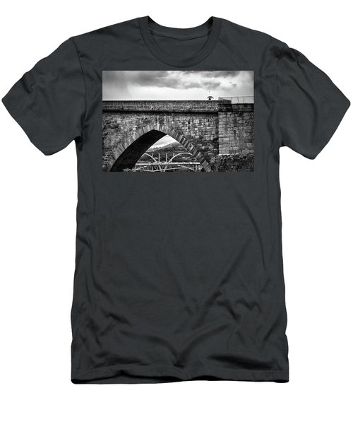 Walking On The Roman Bridge Men's T-Shirt (Athletic Fit)