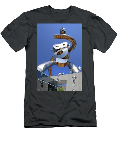 Men's T-Shirt (Slim Fit) featuring the photograph Walking Tall Path by Christopher McKenzie