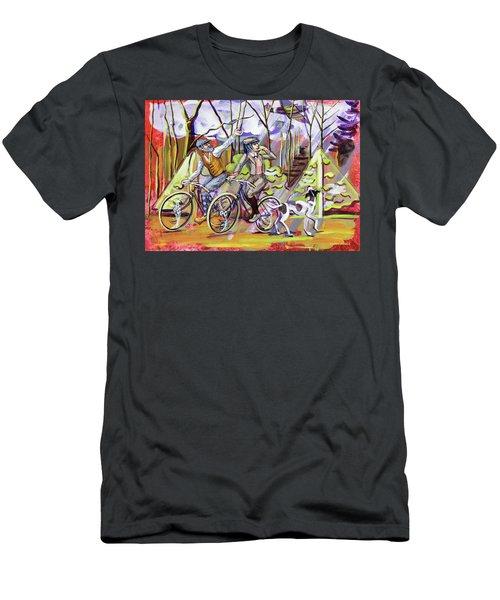 Walking The Dog 1 Men's T-Shirt (Slim Fit) by Mark Jones