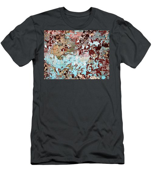 Wall Abstract 128 Men's T-Shirt (Slim Fit) by Maria Huntley