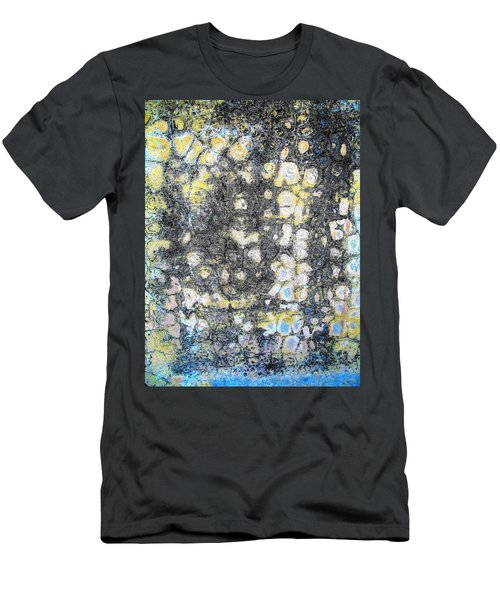Wall Abstract 162 Men's T-Shirt (Slim Fit) by Maria Huntley