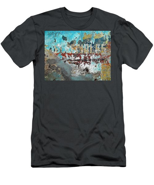 Wall Abstract 98 Men's T-Shirt (Slim Fit) by Maria Huntley