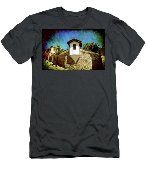 Men's T-Shirt (Athletic Fit) featuring the photograph Wall Of Stone by Milena Ilieva