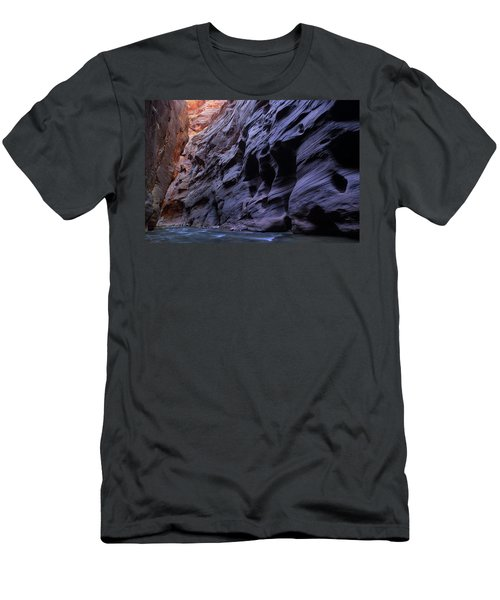 Wall Street At The Narrows At Zion National Park Men's T-Shirt (Athletic Fit)