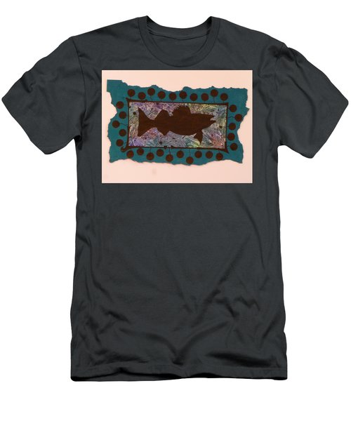 Walleye Silhouette Men's T-Shirt (Athletic Fit)