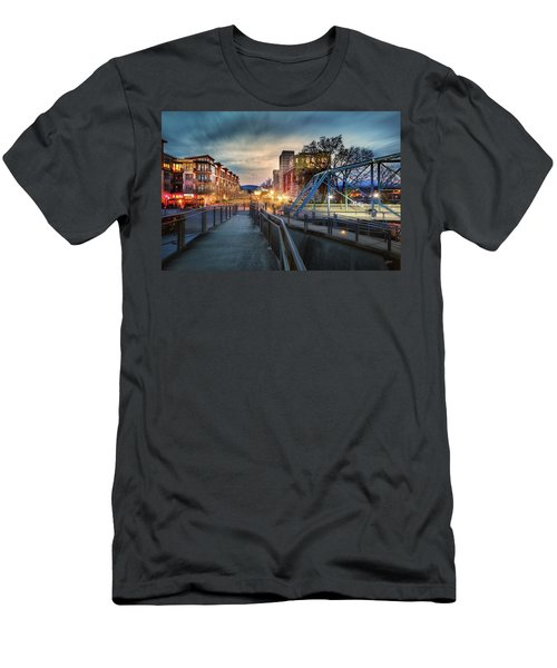 Walnut Street Circle Sunset Men's T-Shirt (Slim Fit) by Steven Llorca