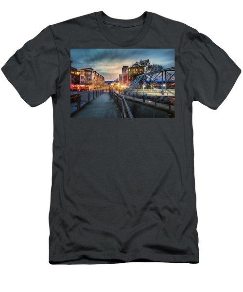 Walnut Street Circle Sunset Men's T-Shirt (Athletic Fit)