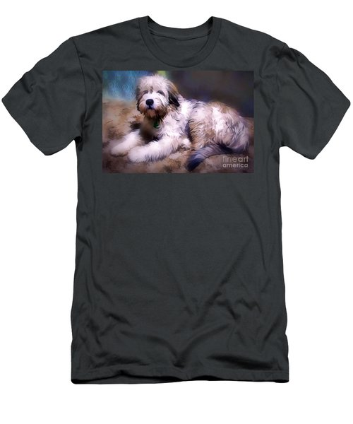 Men's T-Shirt (Athletic Fit) featuring the digital art Want A Best Friend by Kathy Tarochione