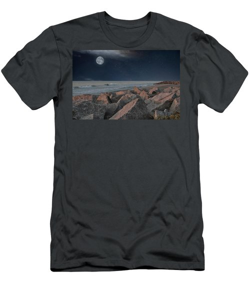 Warm Moonrise At For Fisher Men's T-Shirt (Athletic Fit)