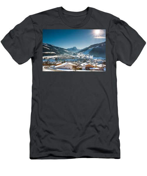 Men's T-Shirt (Athletic Fit) featuring the photograph Warm Winter Day In Kirchberg Town Of Austria by John Wadleigh