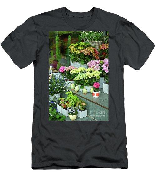 Warnemunde Flower Shop Men's T-Shirt (Slim Fit) by Eva Kaufman