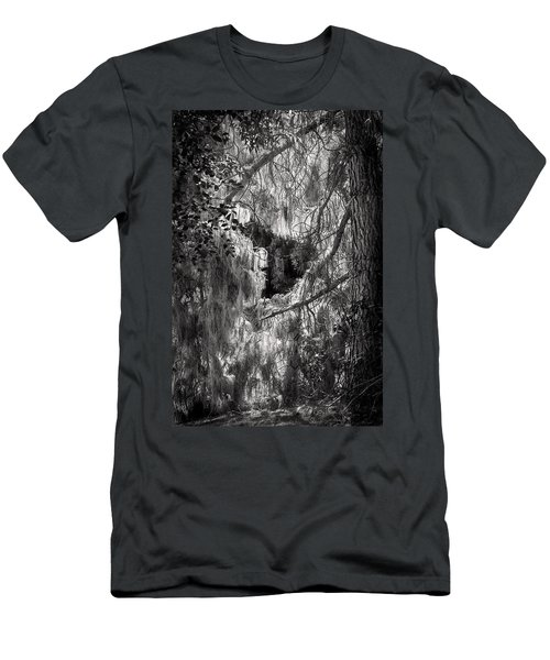 Warp Of Life Bw Men's T-Shirt (Athletic Fit)
