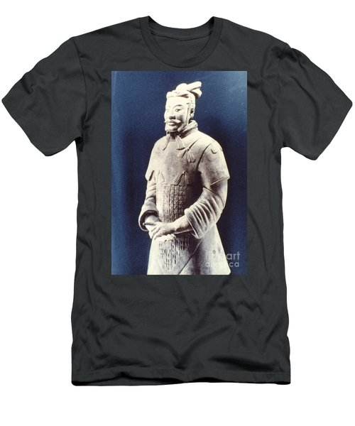 Men's T-Shirt (Slim Fit) featuring the photograph Warrior Of The Terracotta Army by Heiko Koehrer-Wagner