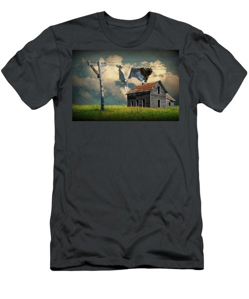 Wash On The Line By Abandoned House Men's T-Shirt (Athletic Fit)