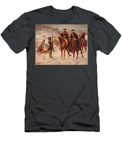 Washington And Lafayette At Valley Forge Men's T-Shirt (Athletic Fit)