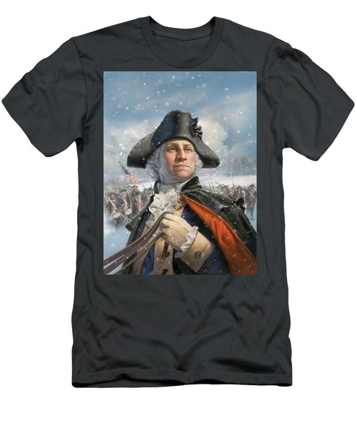 Washington At Valley Forge Men's T-Shirt (Athletic Fit)