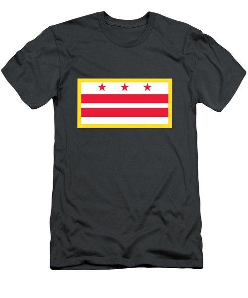 Washington, D.c. Flag Men's T-Shirt (Athletic Fit)