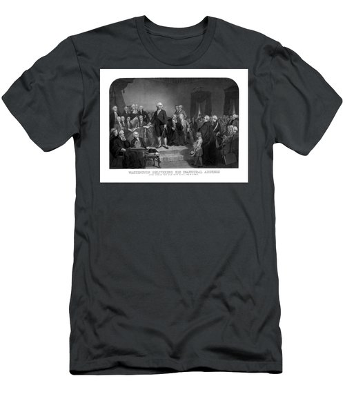 Washington Delivering His Inaugural Address Men's T-Shirt (Athletic Fit)
