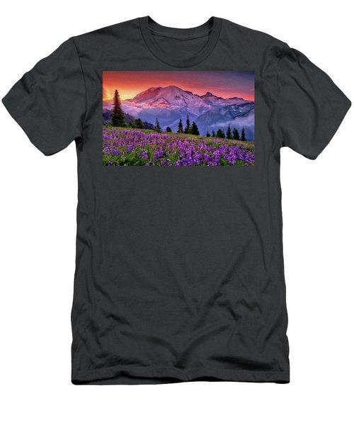 Washington, Mt Rainier National Park - 05 Men's T-Shirt (Athletic Fit)